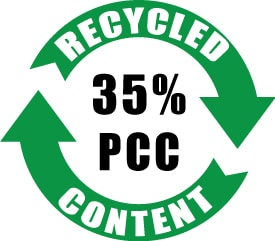 35% PCC Recycled Content
