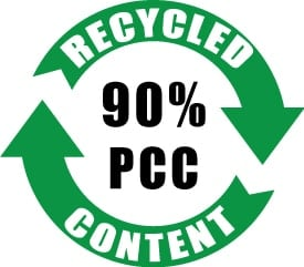90% PCC Recycled Content