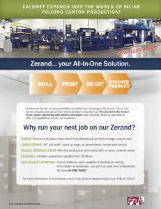 Calumet Carton Expands into the world of Inline Folding Carton Production